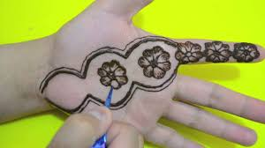 flower pattern henna tattoo cute mehindi design for hands youtube