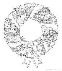 dibujos navideñas para colorear dibujo navideño para colorear de corona de navidad etapa infantil