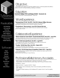 Resume Expected Graduation by Resume U2014 Ty Roberson 3d Generalist