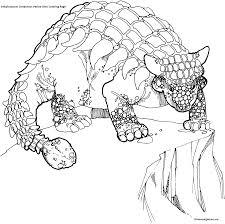 ankylosaurus cretaceous period dino coloring page dinosaur