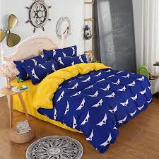 Blue And Yellow Duvet Cover Aliexpress Com Buy 2017 Home Bedding Set Polyeter Bed Sheets Bat