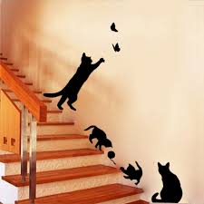online get cheap wall decoration sticker aliexpress com alibaba staircase cats wall sticke vinyl home decor living room kids wall decoration stickers diy autocollant mural
