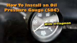 how to install an oil pressure gauge old version youtube