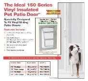 Vinyl Patio Pet Door Sliding Glass Door Pet Door For Sliding Glass Door