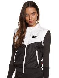 nike windbreaker windrunner vest in black u0026 white glue store