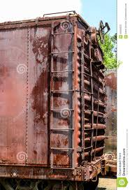 rusty train ladder on rusty red train car stock photo image 56596030