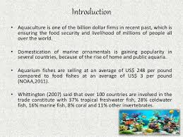prospects and problems in marine ornamental aquaculture india