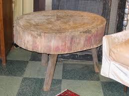antique butcher block tables