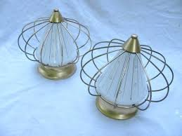 1950 s kitchen light fixtures pair atomic mid century retro ufo ceiling light fixtures 1950s