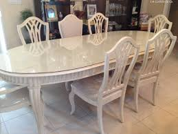 Dining Room Table Refinishing by Dining Room Furniture 7 Piece Set 60 Quot Mirrored Dining Table