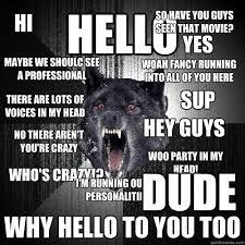 Crazy Wolf Meme - insanity wolf memes quickmeme