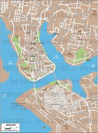 Ivory Coast Map Abidjan Map
