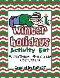 christmas hanukkah kwanzaa activities christmas