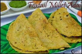 cuisine milet thinai vegetable adai recipe foxtail millet vegetable adai