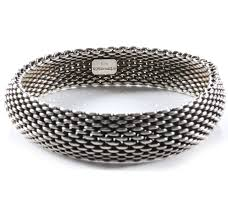 silver mesh bracelet with images Tiffany co sterling silver mesh somerset bangle bracelet 39481 jpg