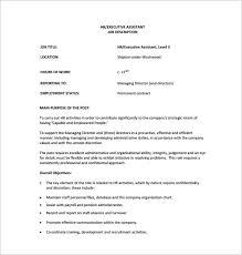 Sample Resume Of Hr Executive by Executive Director Job Description Resume Example Free Linear