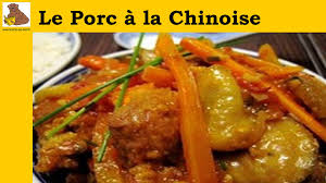 cuisine chinoise porc porc à la chinoise recette rapide et facile hd