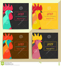 chinese horoscope rooster symbol creative new year 2017 sign