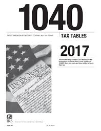 irs tax rate table 2017 2017 form irs 1040 tax table fill online printable fillable blank