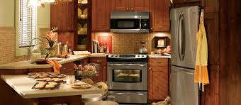 Kitchen Design In Small House Corner Small Kitchen Design With Microwave Shelf Over Electric