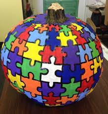 7 ways to decorate your autism awareness pumpkin for fall