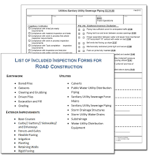 road construction contractor inspection form sample