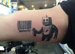 banksy new yorkers flock to get banksy inspired tattoos as