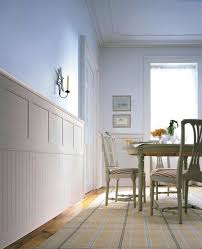 Spell Wainscoting Classic Cottage Wainscoting Beadboard On Bottom Chair Rail And