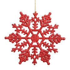 amazon com vickerman plastic glitter snowflake 4 inch silver