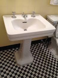Faucet Sink Bathroom Antique Vintage Pedestal Sink With Faucet Bathroom Sinks