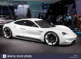 electric porsche porsche mission e concept electric sports car at the iaa stock