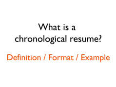Example Chronological Resume by What Is A Functional Resume Format Definition Example