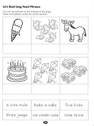 let u0027s read long vowel phrases worksheet rockin u0027 reader