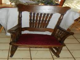 Antique Spindle Rocking Chair Oak Rocking Chair Antique Spindle Yarn Antique Spindle Back