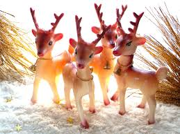 234 best reindeers images on pinterest vintage holiday retro