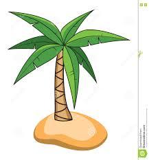 cartoon of palm tree on a small island vector stock vector