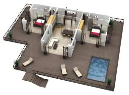 Home Design Free App 3 Bedroom With Office House Plans Home Pleasantwith Bedroomed 3d