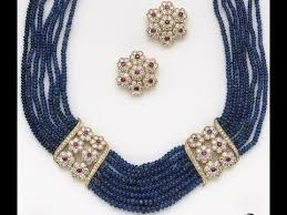 sapphire beads necklace images Beautiful blue sapphire beads jewellery jpg