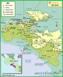 san jose costa rica on map san jose region map costa rica go visit costa rica
