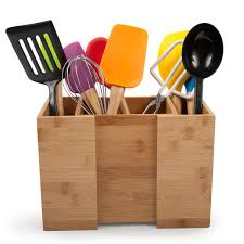 Bamboo Silverware Holder Kitchen Using Stylish Design Of Utensil Holder For Kitchen