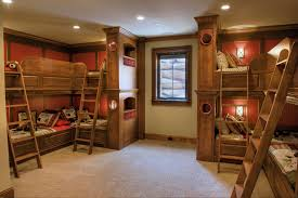 bunk beds kids farmhouse with wall sconces bunk beds