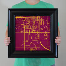 Central Michigan University Campus Map by Central Michigan University Campus Map Art City Prints