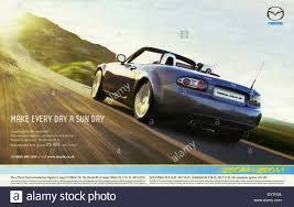 mazda models uk 2000s uk mazda magazine advert stock photo royalty free image