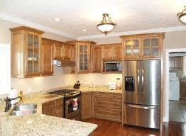 oak kitchen cabinets with glass doors kitchen cabinets