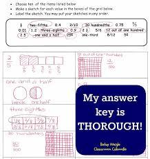 fraction u0026 decimal worksheet pack classroom caboodle