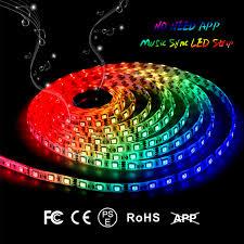 led light strip ip65 waterproof led strip light 16 4ft music