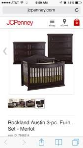 Rockland Convertible Crib Rockland 3 Pc Baby Furniture Set Espresso Jcpenney Our