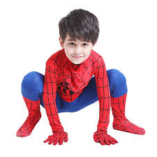spider man jumpsuit with hood halloween costumes for kids