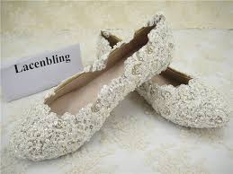 pearl lace wedding shoes lace bridal shoes flat lace bridal shoes pearl
