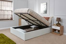 White Ottoman Bed Arizona White Leather Ottoman Bed Frame Dublin Beds